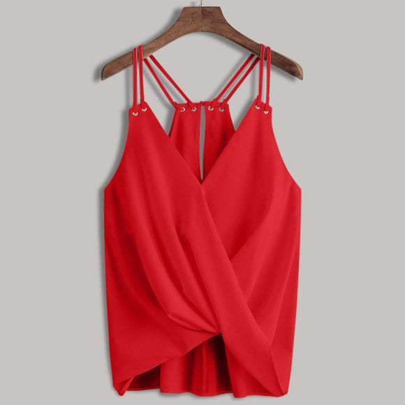 Casual Sleeveless Shirt Top Vest Summer Tank Shirt Cami hot Top