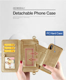 4 in 1 Leather Wallet Bag Case for iPhone