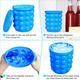 Large Silicone Ice Bucket Mold with Lid Space Saving Cube Maker Tools for Kitchen Party Barware