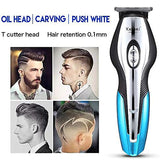 Pro T-Outliner Hair Clipper Kit Grooming Beard Trimmer with T-Blade Men's Carbon Steel Clippers Set USB Electric Pusher