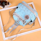 Women's Fashion Shoulder Bag Soft Leather Embroidery Multi-functional Travel Bag