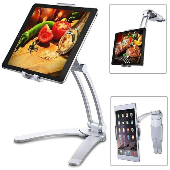 Pull-Up Desktop & Wall Pull Up Lazyy Bracket Cell Phone Tablet Holder Stand Adjustable 360 Rotating Mount for Bed Kitchen