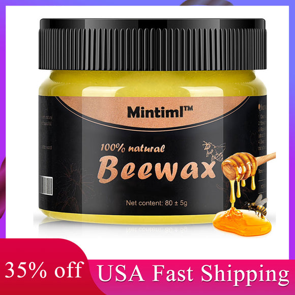 Wood Seasoning Beewax Solid Wood Maintenance Cleaning Polished Waterproof Wear-Resistant Furniture Care Polishing Wax