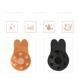 Invisible Silicone Breast Pads 2Pcs/Set Women Bra Bikini Pads Self Adhesive Silicone Lift Up Tape Rabbit Ear Chest Sticker Nipple Cover