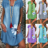 Dress Casual Plus-Size Women Summer * Tunic Dress Casual Short Sleeve