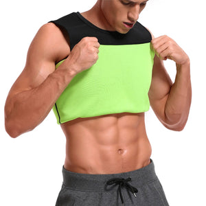 Mens Neoprene Slimming Vest Cami Hot Shapers