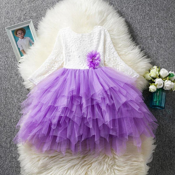 Gowns Layers Tulle Baby Girl Baptism Dress Lace and Tulle Flower Girl Dress