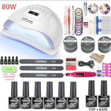 UV LED Lamp Dryer With Nail Gel Polish Kit