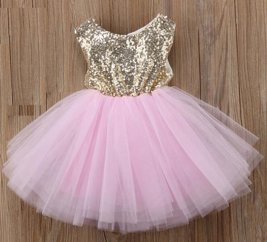 Party Ball Gown Formal Dresses for Kids Fashion Princess Dress for Baby Girls