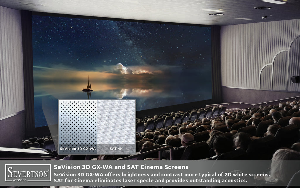 Severtson Screens Showcases Next Generation SAT-4K Cinema Screens & New Enhanced Cinema Screen Coating Dubai MENA Cinema Forum 2019