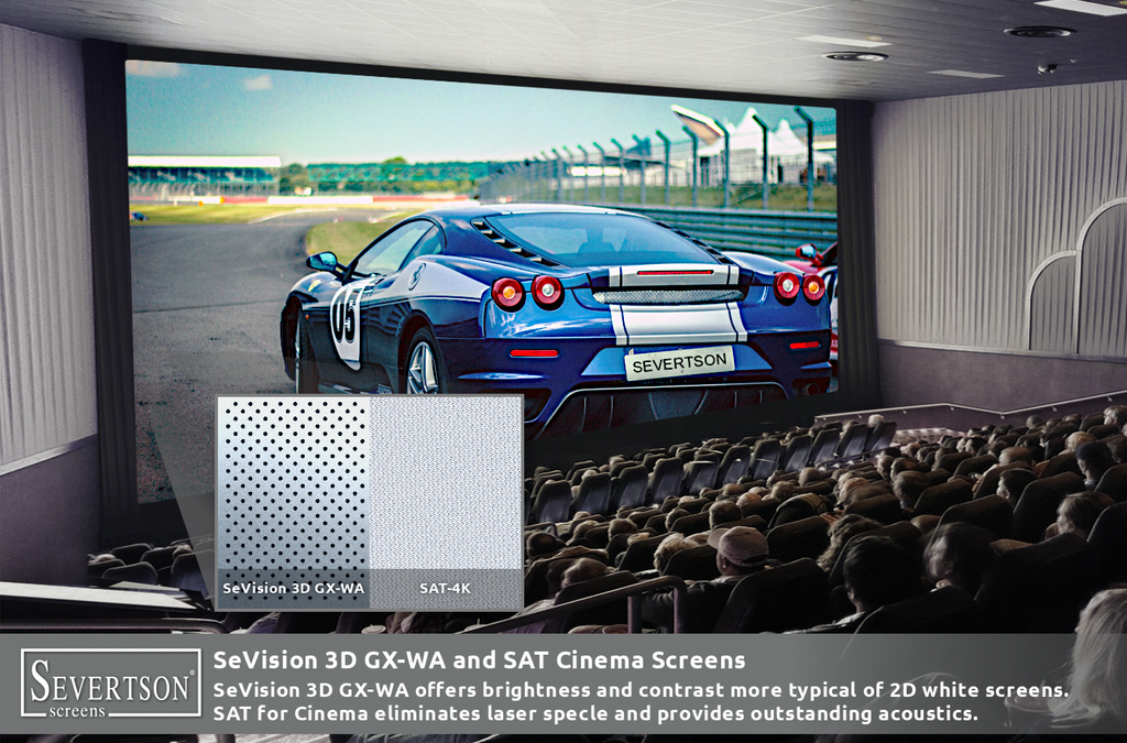 Severtson Screens Showcases Next Generation SAT-4K Cinema Screens & New Enhanced Cinema Screen Coating During ShowEast 2019