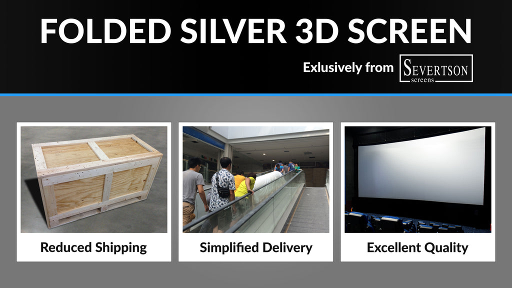 Severtson Screens features new folded cinema projection screens/technology at Kino Expo 2015