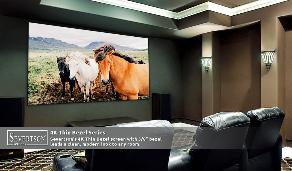 Severtson Showcases 4K Thin/Zero Bezel Fixed Frame Projection Screen Solutions at CEDIA Expo 2019