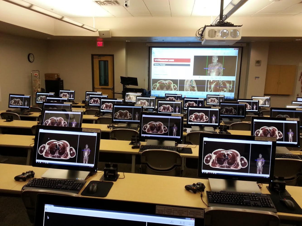 A.T. Still University utilizes 175-inch, 16:9 aspect ratio Severtson Screens SēVision 3D GX projection screen for new Virtual Anatomy Lab