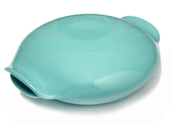 Covered Serving Dish in aqua