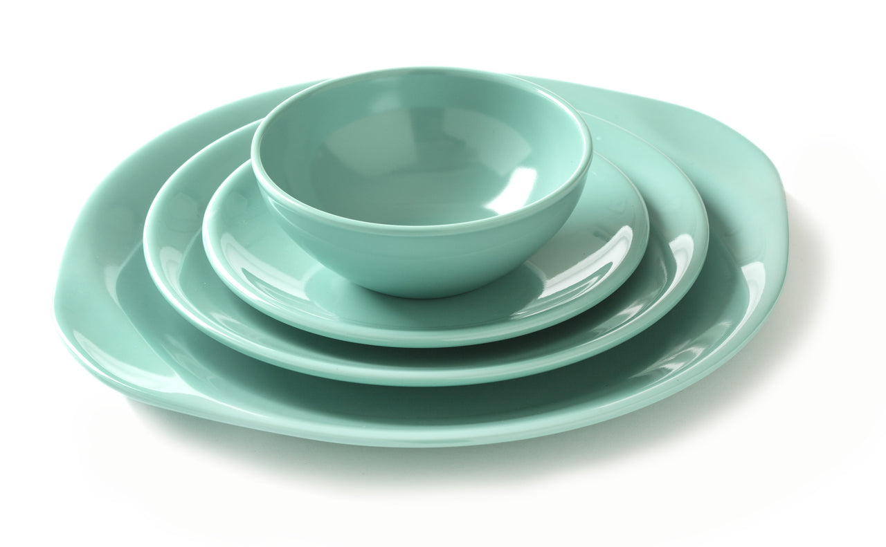 Place Setting in aqua