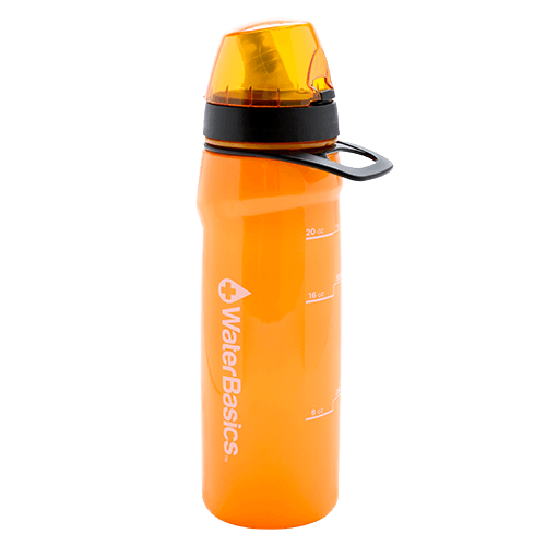 WaterBasics™ - Red Line Filtered Water Bottle