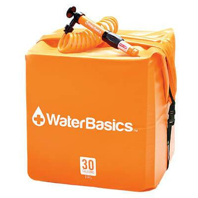 WaterBasics™ 30 Gallon Water Storage Kit With Filter