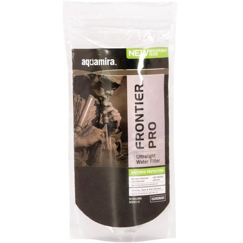 Aquamira® Frontier™  Pro Ultralight Filter Tactical Packaging
