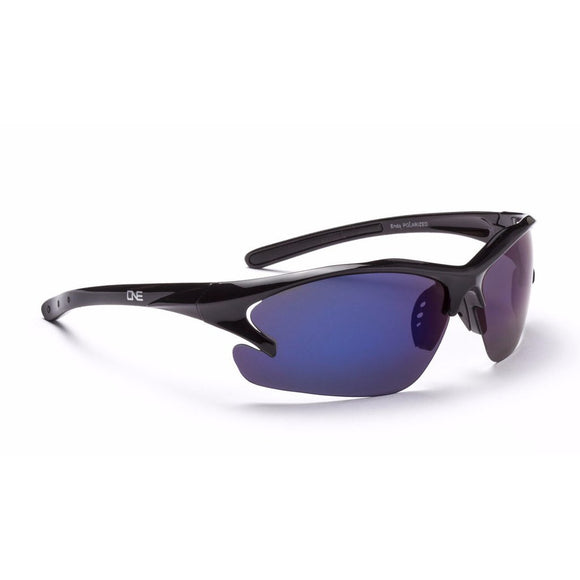 ONE by Optic Nerve Polarized Half Frame Wrap Around Sport Sunglasses