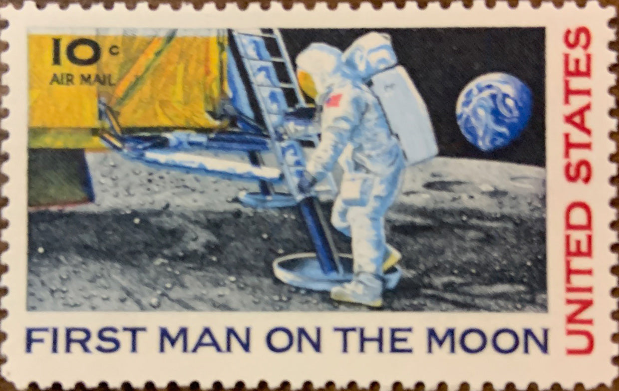 50th Anniversary Apollo 11 Postage Stamps Collection by Philatelic Mint