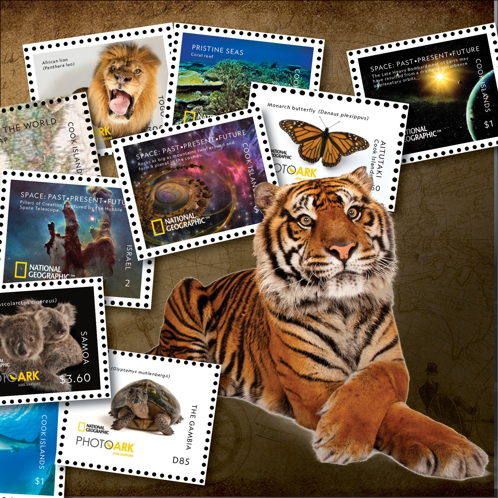 Purchase - The Official National Geographic Postage Stamp Collection