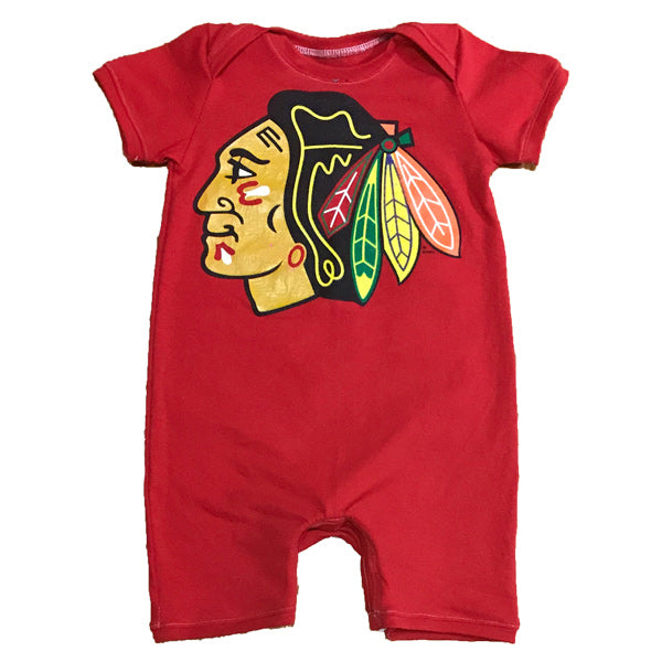 One of a Kind - Chicago Blackhawks Romper - 2-3T
