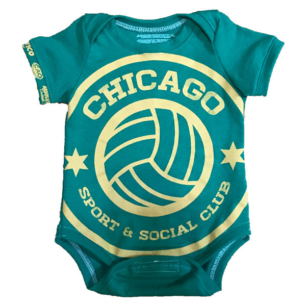 One of a Kind - Chicago Sport and Social Club Short Sleeve Onesie - 3-6m