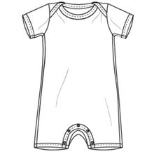 Custom Recycled T-shirt - Short Sleeve Shortie Romper