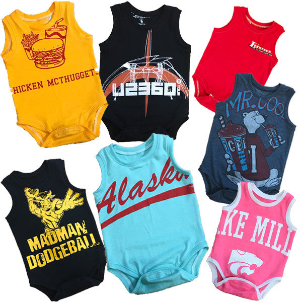 Custom Recycled T-shirt - Tank Top Onesie