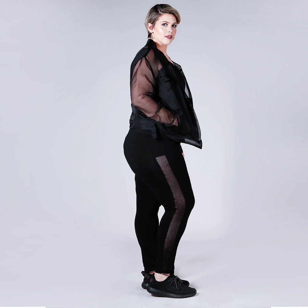 Side Mesh Panel Leggings