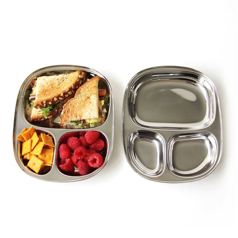 Ecolunchbox Divided Kid Tray Stainless Steel