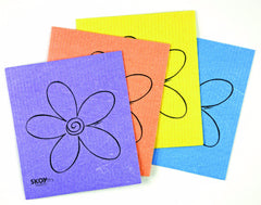 SKOY Eco-friendly & Reusable Cleaning Cloth (4-pack: Assorted Colors)
