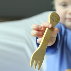 Bamboo Kid's Fork & Spoon (18M+)