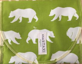 Reusable Organic Snack-Sack (Bears on Green Design)