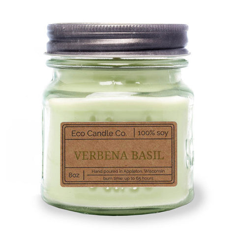Verbena Basil 8 oz Eco Candle