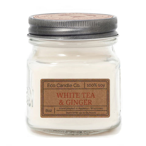 White Tea & Ginger 8 oz Eco Candle