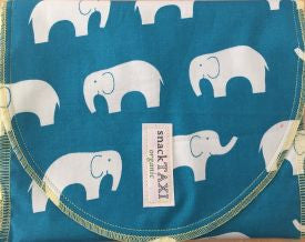 Reusable Organic Snack-Sack (Elephants  Design)