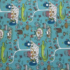 Reusable Organic Wrap (Alligator Picnic Design)