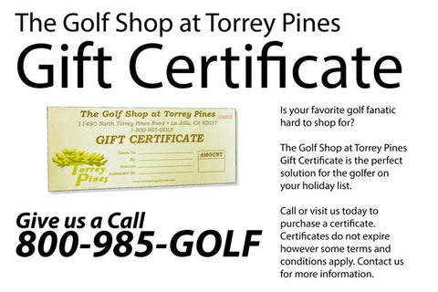 Gift Certificates – The Golf Shop at Torrey Pines