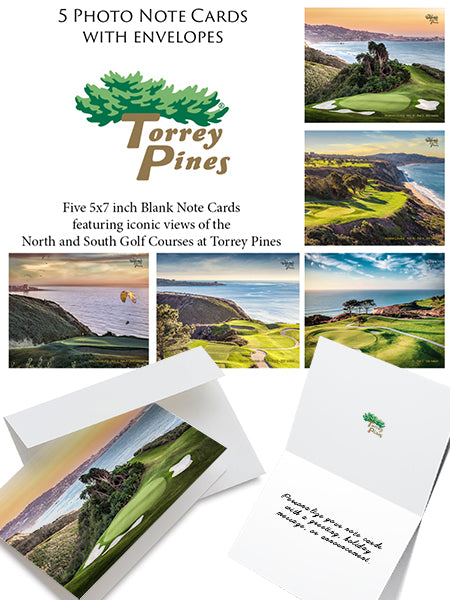 Torrey Pines Photo Note Cards 5 Pack - Merchandise and Services from The Golf Shop at Torrey Pines