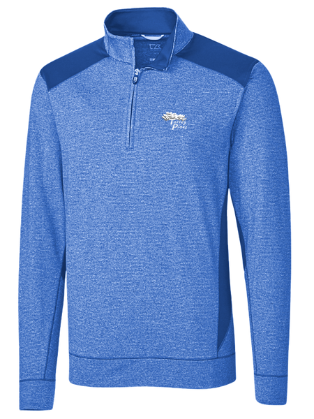 Torrey Pines Men's Shoreline Colorblock Half-Zip - Merchandise and Services from The Golf Shop at Torrey Pines
