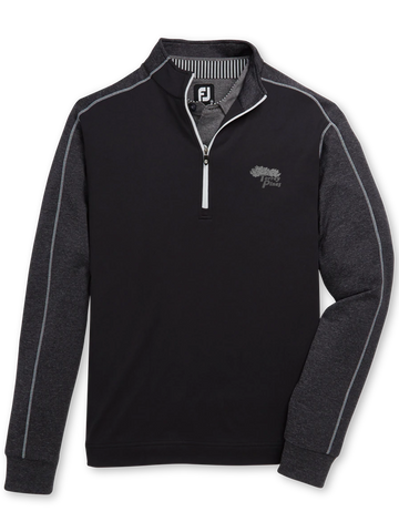 Torrey Pines Men's Half-Zip Tonal Heather Mid-Layer Pullover - The Golf Shop at Torrey Pines