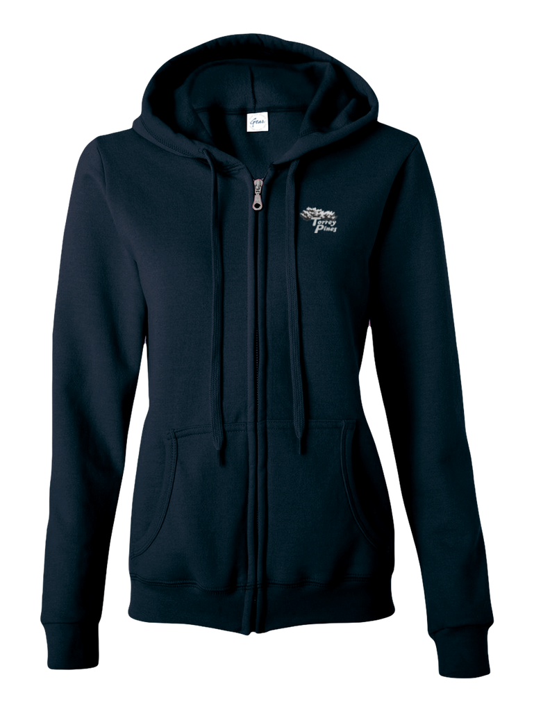 Torrey Pines Women's Full-Zip Long Sleeve Hooded Sweatshirt - Merchandise and Services from The Golf Shop at Torrey Pines