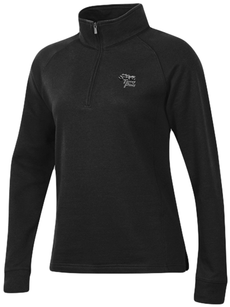 Torrey Pines Womens Long Sleeve 1/4 Zip Fleece Pullover - The Golf Shop at Torrey Pines