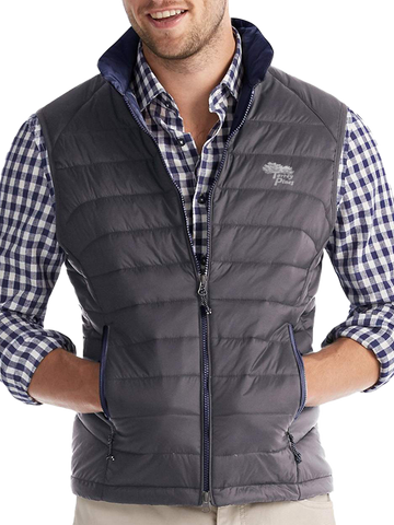 Torrey Pines Men's Quilted 2-Way Zip Vest - Merchandise and Services from The Golf Shop at Torrey Pines