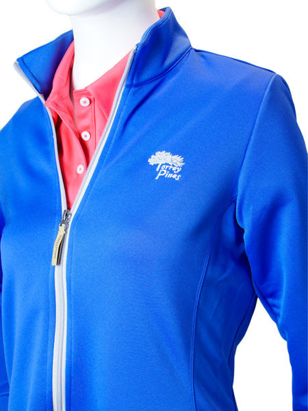 Torrey Pines Women's Private Label Full Zip Jacket - Vivid Blue - Merchandise and Services from The Golf Shop at Torrey Pines