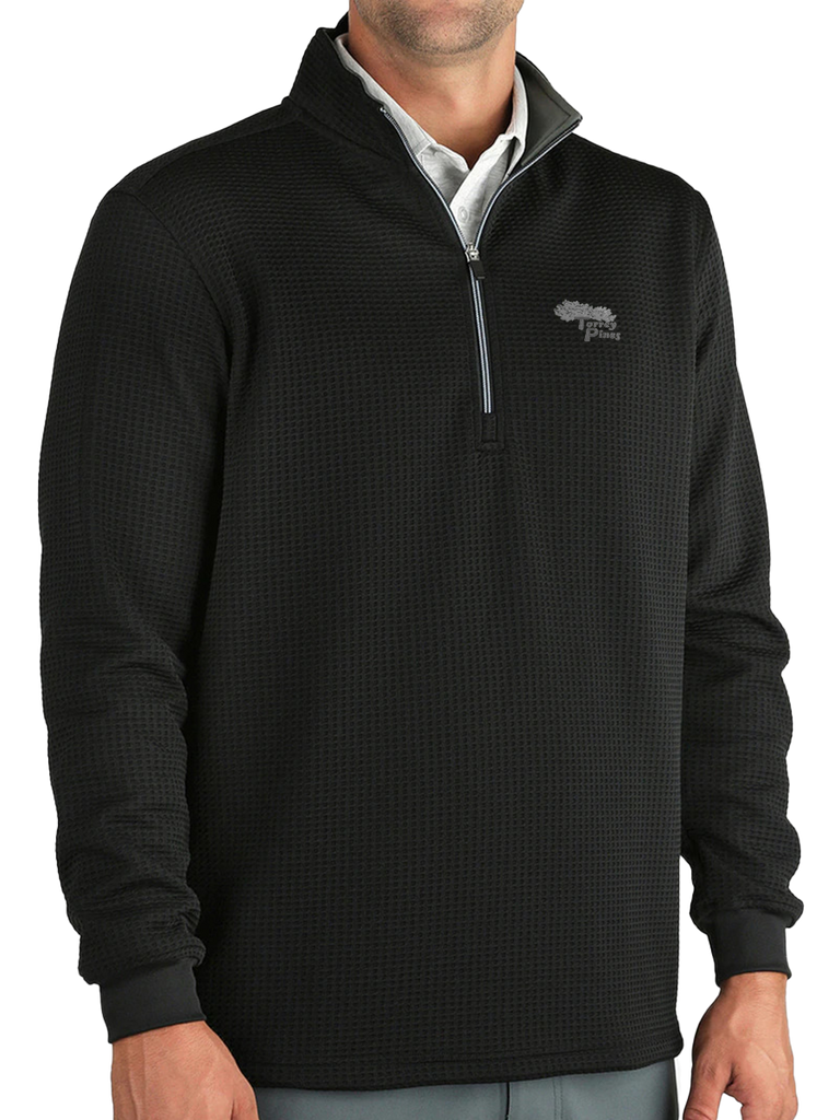 Torrey Pines Men's Long Sleeve 1/2-Zip Optic Pullover - Merchandise and Services from The Golf Shop at Torrey Pines