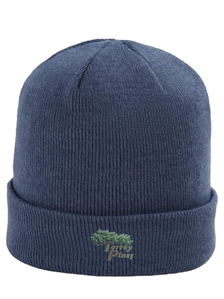 Torrey Pines Heathered Cuffed Knit Beanie - Merchandise and Services from The Golf Shop at Torrey Pines
