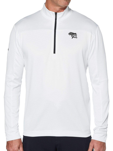 Torrey Pines Mens Swing Tech 1/4 Zip Waffle Fleece - Merchandise and Services from The Golf Shop at Torrey Pines